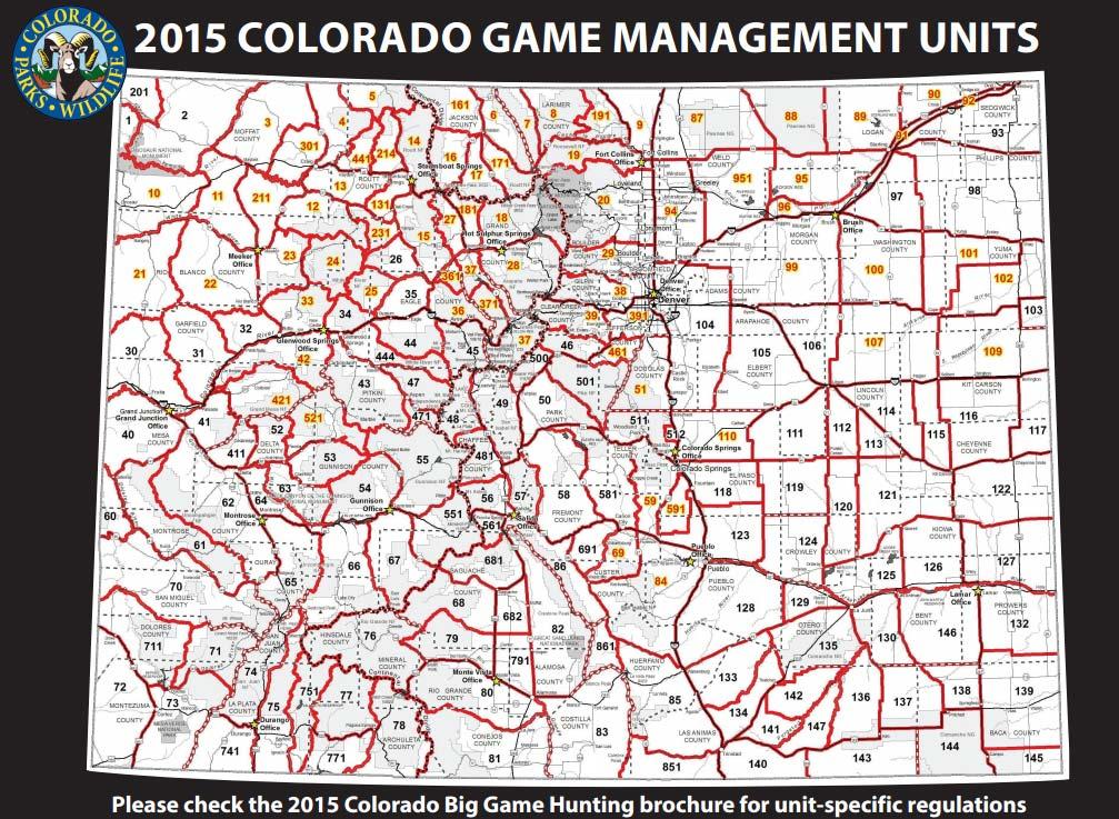 Colorado Game Management Units