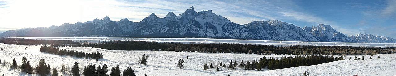 Grand Teton Mountain Range near Jackson Hole Wyoming