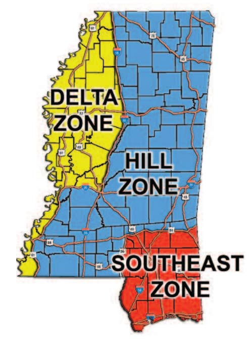 mississippi-hunting-zones-areas