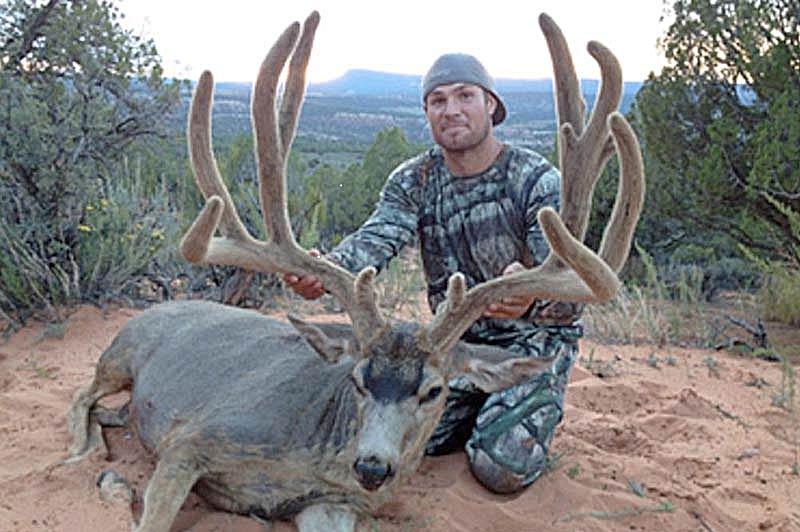 Bowden Gardner with record Archery Mule Deer in Utah