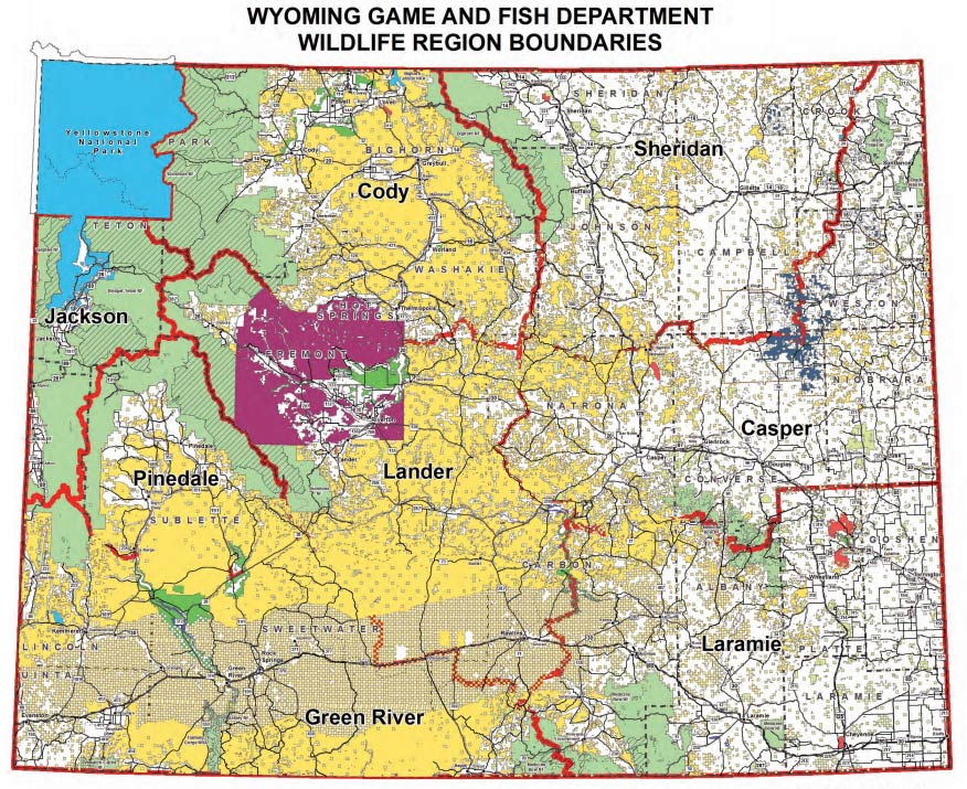 Wyoming hunting area map