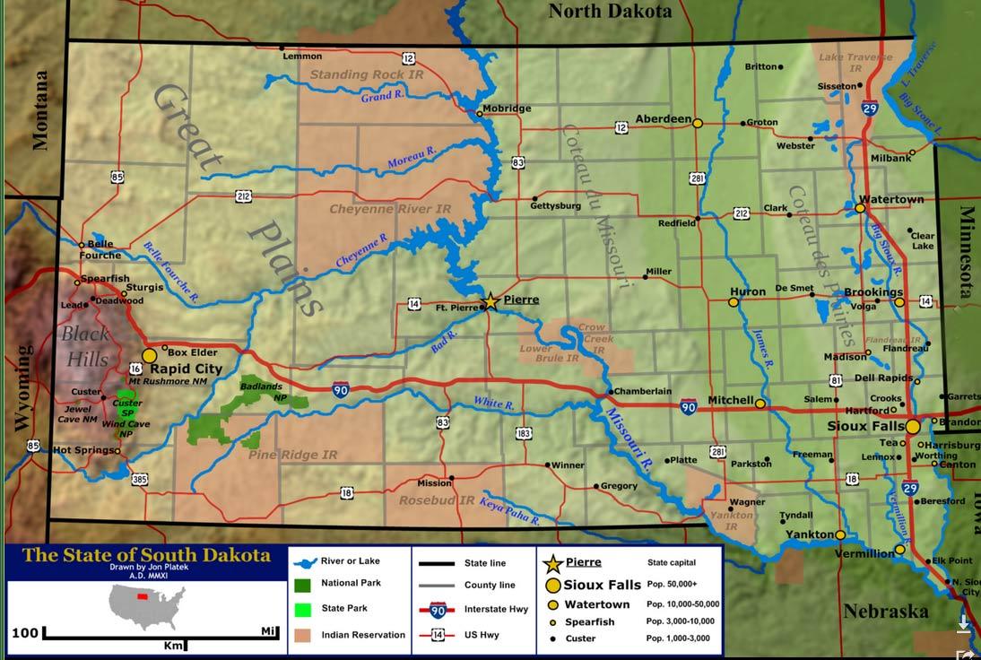 South Dakota Hunting Zones